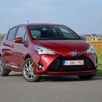 Toyota Yaris on the road